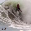 【動画】テイクオフ失敗!!波に揉まれ、パーリングだらけの動画