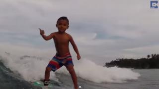 【動画】Kai Kai Alcala(カイカイアルカラ)フィリピンの5歳のサーファー未来の夢はプロサーファー