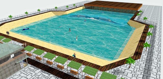 神戸に人工サーフィン場開設へ 国内唯一、サーフィン本格的練習施設