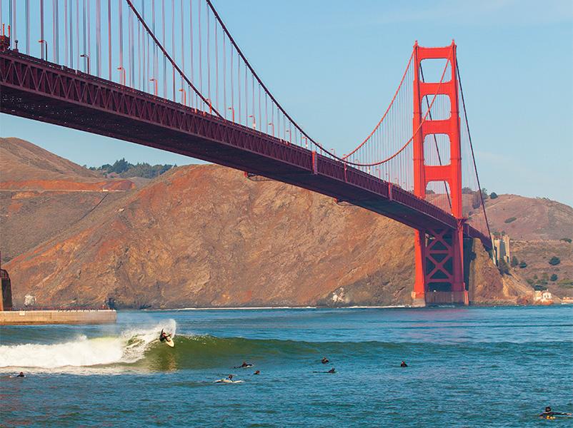 サンフランシスコっぽいポイント、ゴールデンゲートブリッジ下