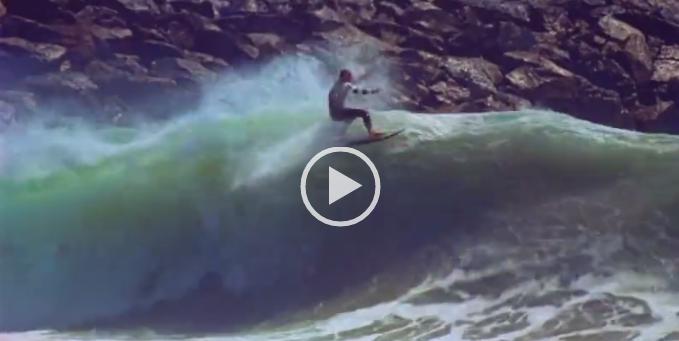 The Wedge Newport Beachで頭サイズ以上の波でのフローターアクション!