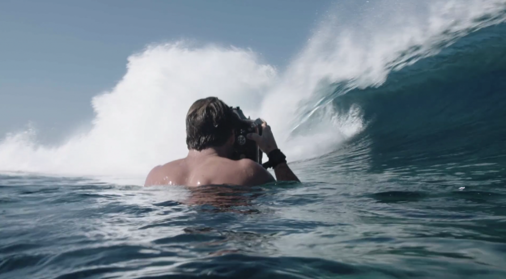 水中写真家Stu Gibson(ステュー ギブソン)の仕事風景
