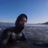 【動画】モントリオールでのアイスリバーサーフィン