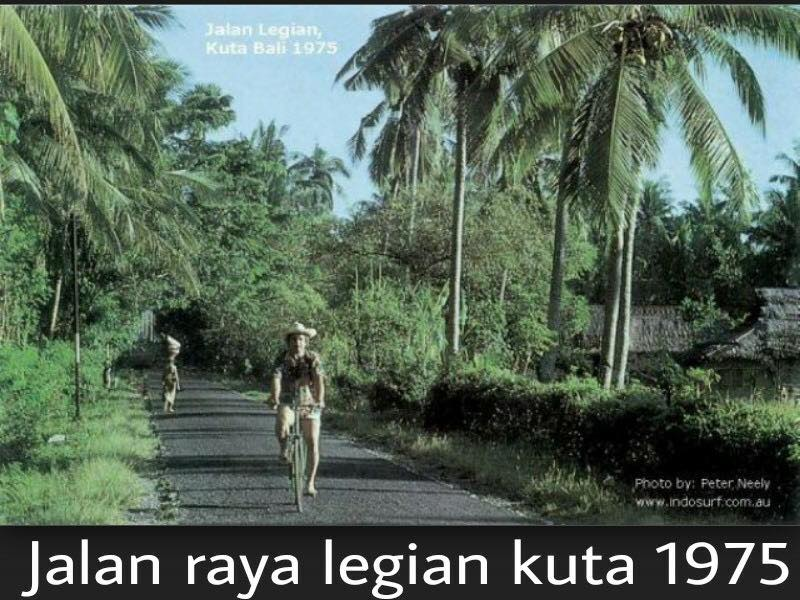 バリ島の1970年と2015年今と昔の写真