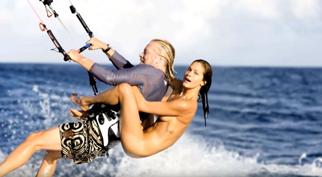 羨ましいギネス記録!美女を乗せてカイトサーフィン_1