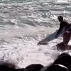 【動画】エントリー失敗、勢い余ったサーファーの末路