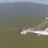 【動画】巨大タンカーの発生した波でサーフィン