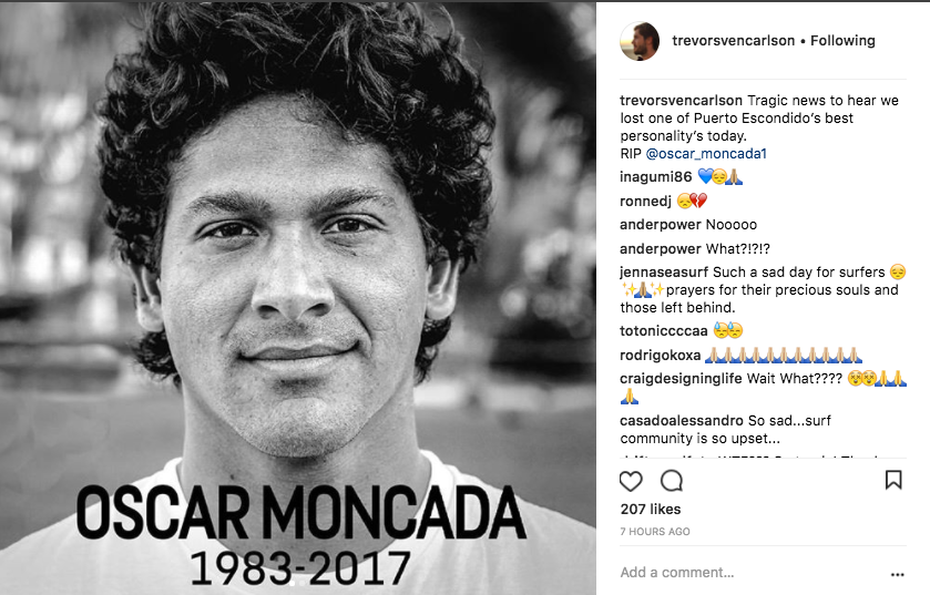 Oscar Moncada(オスカー・モンカダ)、自動車事故で死亡