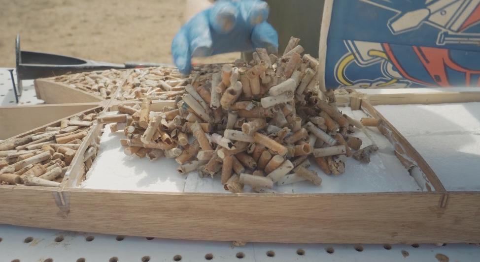 吸い終わったタバコのフィルターでサーフボードを作る!エコロジー企画
