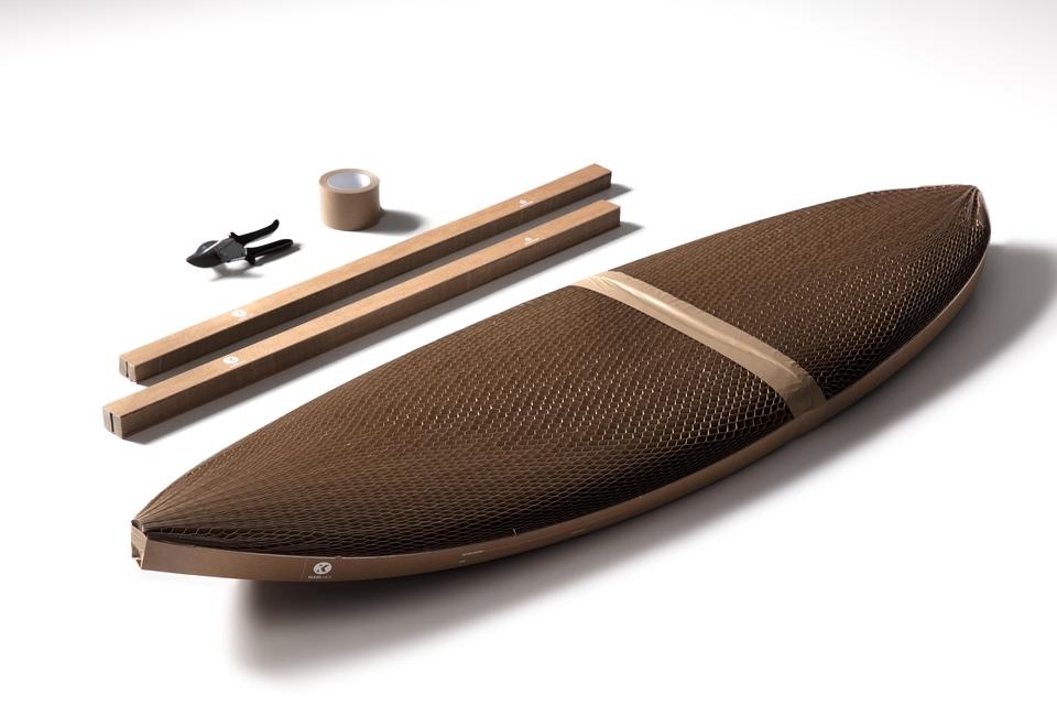 大切なサーフボードを簡単に保護する段ボール包装を紹介